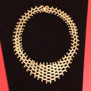 Choker Necklace Gold-Tone Vintage